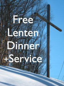 Please join us for a community ecumenical Lenten dinner and service